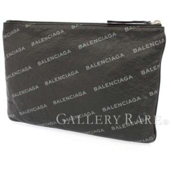 バレンシアガ クラッチバッグ ブラック グレー ロゴ 506794 BALENCIAGA バッグ