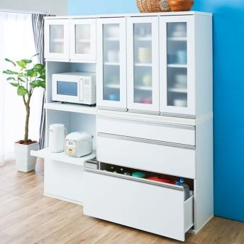 ベルーナインテリア 組合せ自在なキッチン収納シリーズ ホワイト 幅60cm レンジボード上置き
