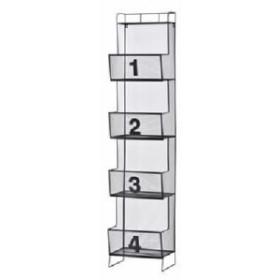 金属・スチール製メッシュ収納 棚・置き場/整理 収納ラック 【4段】 幅36cm×奥