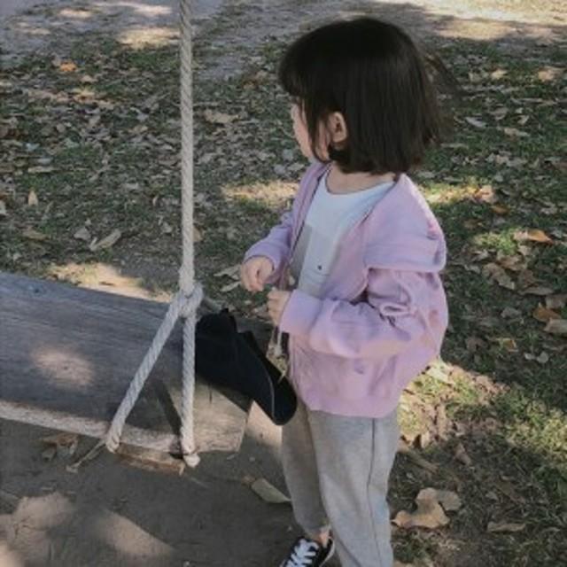 子供服 キッズ ウインドブレーカー 女の子 ベビー ジャケット コート アウター ジップアップパーカー