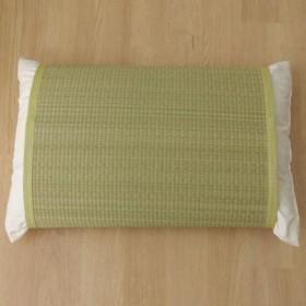 枕パッド 国産い草使用 『無地 枕パッド かため』 グリーン 約40×53cm 3659879