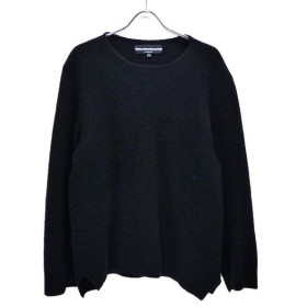 White Mountaineering 2017AW SIDE SLIT CREW NECK KNIT made in ITALY セーター ブラッ