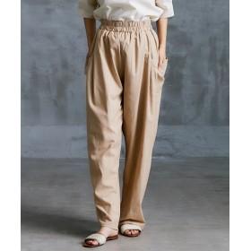麻混サイドBIGポケットテーパードパンツ (レディースパンツ),pants