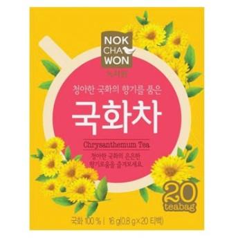『ロクチャウォン(緑茶園)』菊茶(0.6g×20包) ティーパック状 菊花茶 韓国お茶 韓国食材 韓国食品