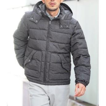 【メンズ】 フード付き中綿ジャケット(エアコンダウン) ■カラー:グレー系 ■サイズ:3L,5L