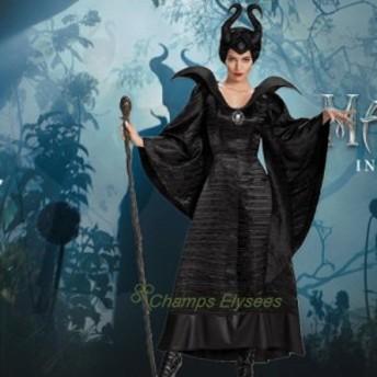 悪魔系魔女女巫 セクシーハロウィンの女王コスプレレディースコスプレブラックワンピース衣装 女性用  イベント衣装 演劇ステージ服