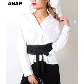 【セール開催中】ANAP(アナップ)フェイクスエードサッシュベルト