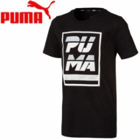 メール便対応 プーマ ALPHA SS グラフィック Tシャツ ジュニア 843945-01