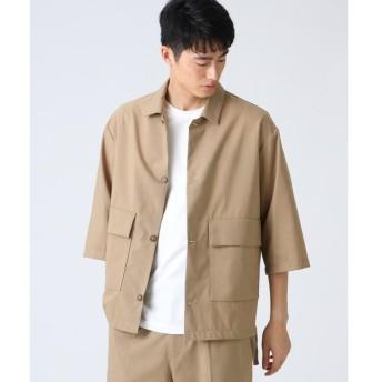tk.TAKEO KIKUCHI / ティーケー タケオキクチ SOLOTEX(R) ウール混ジャケット風シャツ