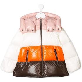 Moncler Kids カラーブロック パデッドジャケット - ピンク