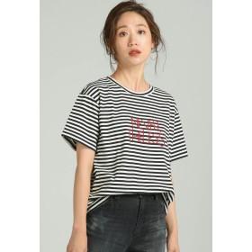 LIPSTAR NEVER THELESS-ロゴTシャツ Tシャツ・カットソー,ブラック系その他