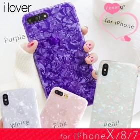 iPhone XR ケ ス iPhone8 iPhone Xs iPhoneX iPhone7 ケース アイフォン8 iPhoneケース おしゃれ キラキラ パール スマホケース アイフォンケース