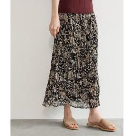 OZOC / オゾック [洗える]花柄プリーツスカート