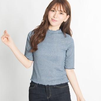 Tシャツ - WEGO【WOMEN】 ラメハイネックフリルT(5) BS17AU08-L003