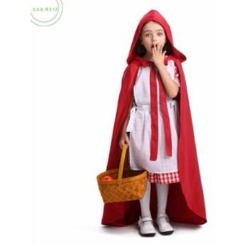 ハロウイン 子供服 マント 仮装 赤 コスプレ衣装 レイド 送料無料 キッズ 魔女 ステージ衣装 パーテイー クリスマス