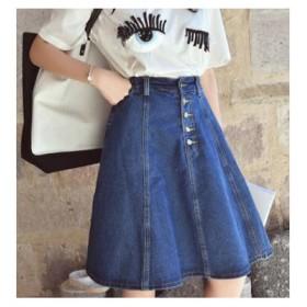 ミニスカート スカート デニムスカート ショート丈スカート Aライン 可愛いスカート