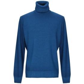 《期間限定セール開催中!》FILIPPO DE LAURENTIIS メンズ タートルネック ブルー 52 ウール 100%