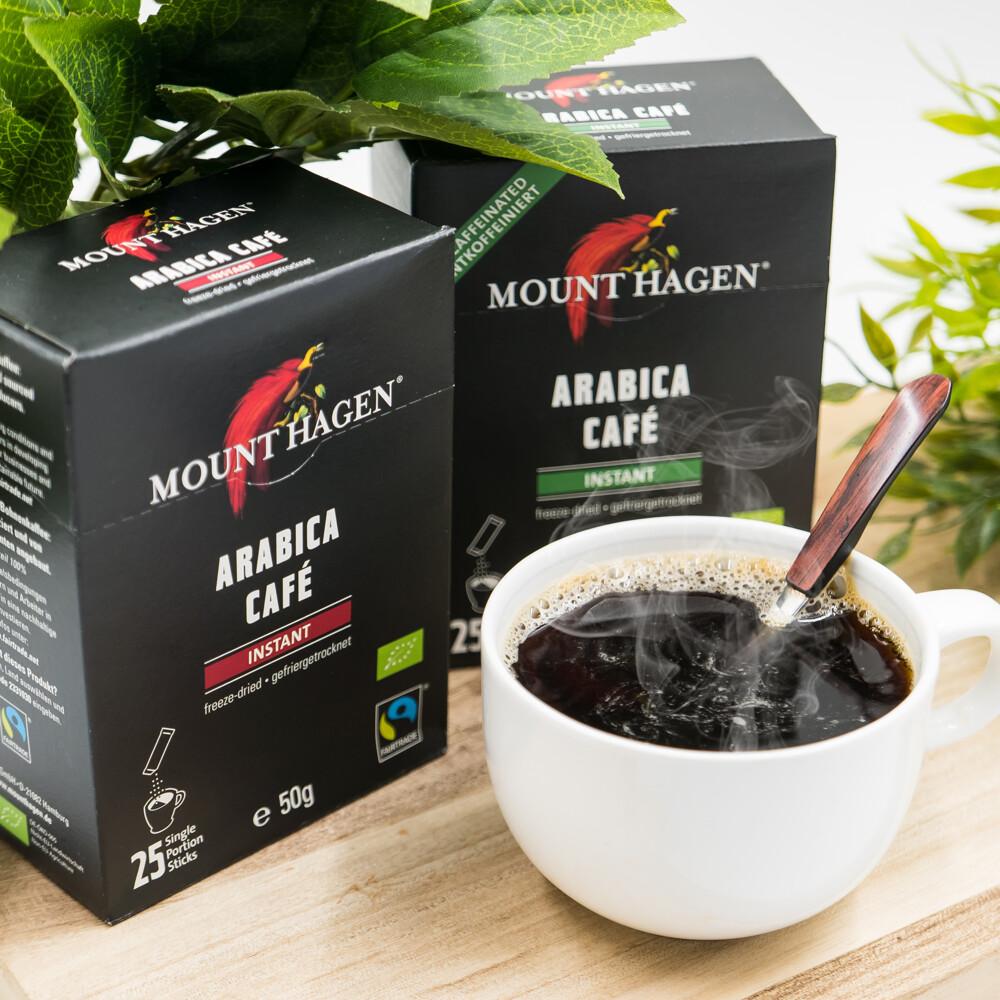 mount hagen德國進口 歐盟有機認證 有機一般&低咖啡因即溶咖啡粉(1入=1盒=25包)