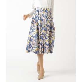 NEWYORKER(ニューヨーカー)/チェックフラワープリント ギャザースカート