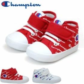 チャンピオン キッズ ベビー スニーカー Champion CP BR011 ルーキーコートCANVAS ホワイト レッド 2E ベルクロ マジックテープ 子供靴