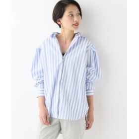 (Spick & Span/スピック&スパン)TOTEM PRIOLA 袖タックシャツ/レディース ブルー 送料無料