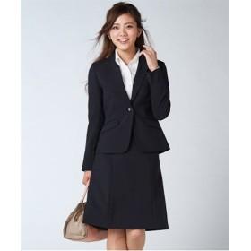 新改良◎洗える定番セミフレアスカートスーツ (大きいサイズレディース)スーツ,women's suits ,plus size