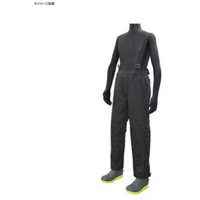 クロスファクター 釣り用防寒レインウェア 防水防寒サロペットパンツ  L  BK(ブラック)