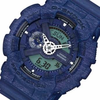 カシオ CASIO Gショック アナデジ クオーツ メンズ 腕時計 GA-110HT-2A ネイビー ga-110ht-2a