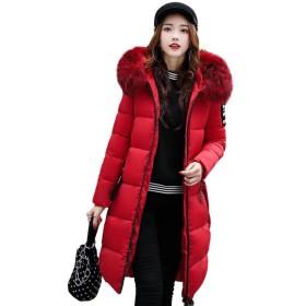 EASONDDD ダウンコート レディース ダウンジャケット 中綿コート 冬 アウター ファー フード ロング コート 着痩せ 大きいサイズあり 無地 厚手 冬服 防寒着 おしゃれ あったか 女性用