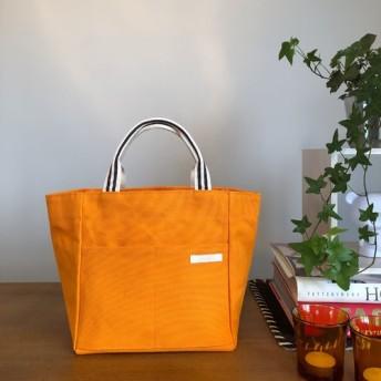 倉敷8号帆布のトートバッグ Mサイズ オレンジ