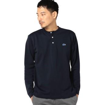 [シップス] LACOSTE ラコステ Tシャツ 長袖 ヘンリーネック メンズ 112040049 ネイビー 紺 S