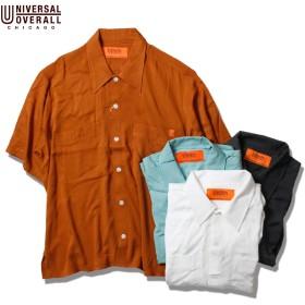 UNIVERSAL OVERALL ユニバーサルオーバーオール OPEN COLLOR SHIRT メンズ ホワイト/オレンジ/ミント/ブラック M-L ORANGE,M