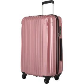 【ラッキーパンダ】luckypanda TY001 スーツケース ファスナータイプ 【2年保証】 TSAロック 大型 Lサイズ ダスティーローズ