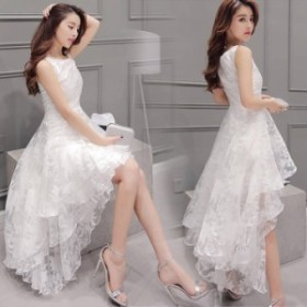 送料無料 純白 ウェディングドレス フィッシュテール ワンピース  白ワンピース ブライダル 結婚式