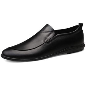 [Jusheng-shoes] メンズシューズ メンズカジュアルシューズ カジュアルシューズ (色 : 黒, サイズ : 40)