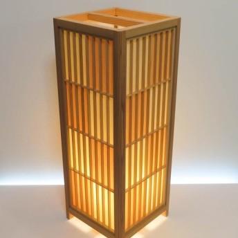 和風照明・インテリア照明 ADKM-722 手作り組子行灯 特大サイズ 国産桧/国産杉 突板市松デザイン