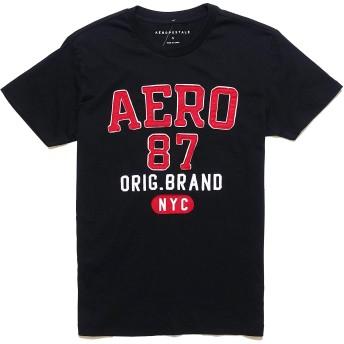 (エアロポステール)AEROPOSTALE メンズ Men's 半袖 Tシャツ Aero 87 Orig. Brand Graphic Tee ブラック Black (XXL) [並行輸入品]