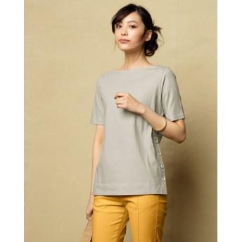 超長綿・サイドボタンTシャツ