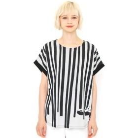 [マルイ] 【レディース】ミリオンアイスバックボタンTシャツ/バンブーフォレストストライプ/グラニフ(graniph)