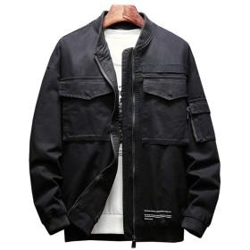 [sweet bell] ブルゾン メンズ マウンテンパーカー ジャンパー スタジャン ジャンバー ウインドブレーカー フード 防寒 ブラック 黒 大きいサイズ 3L 2XL XXL dehj41-p85-bk-2XL