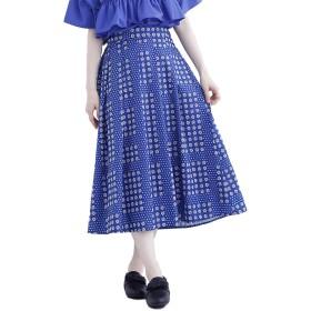 (メルロー) merlot ローズドット柄スカート7547 878213537547 FREE ブルー