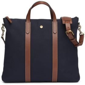 (ミスモ) Mismo Men`s MATE Tote BAG -旅行バッグ ㅡ MIDNIGHT BLUE/CUOIO 男性トートブリーフビジネスバッグ(並行輸入品)