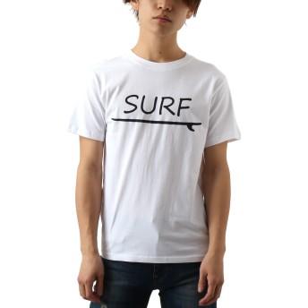 [REPIDO (リピード)] Tシャツ 半袖 メンズ ロゴ プリント フォト クルーネック リゾート サーフ ホワイト(C) Mサイズ