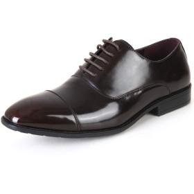 [タキオス] ビジネスシューズ メンズ 革靴 紳士靴 内羽根ストレートチップ 991 ダークブラウン 25.0cm