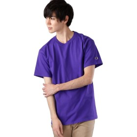 (チャンピオン)Champion Authentic T-SHIRTS チャンピオン コットン Tシャツ 1/2スリーブ メンズ パープル Mサイズ