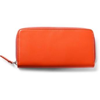 IS/IT(イズイット) 長財布 ラウンドファスナー カード段22 アクセス財布 オレンジ