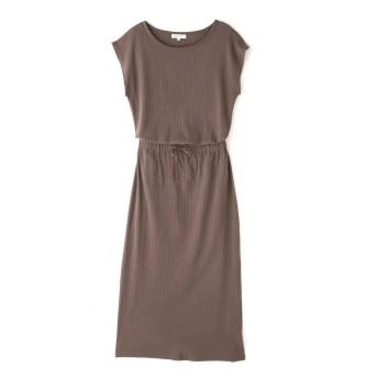 【公式/NATURAL BEAUTY BASIC】針抜きリブセットアップ/女性/C&S OP.TP/ブラウン/サイズ:M/スカート:コットン 100%、トップス: コットン 100%