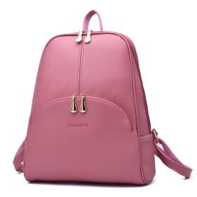 Nevenka リュック 軽量 大容量 PUレザー 通勤 通学 旅行 A4 iPad対応 ポケット付き レディース 7色 (ピンク)