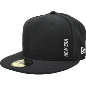 ニューエラ キャップ ◆ NEW ERA 59FIFTY エッセンシャル ニューエラ バーチカルロゴ ブラック × ホワイト 11899308 メンズ 帽子 cap 7(55.8cm) ブラック×ホワイト