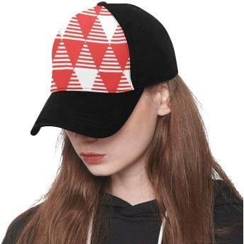 CWSGH キャップ 帽子 赤い三角形 スポーツ コットン 男女兼用 登山 釣り ゴルフ 野球 運転 アウトドア 紫外線対策 速乾 軽薄 おしゃれ 防寒 柔らかい